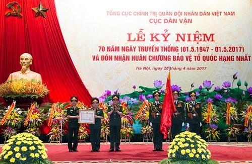 Cục Dân vận kỷ niệm 70 năm Ngày truyền thống và đón nhận Huân chương Bảo vệ Tổ quốc hạng nhất