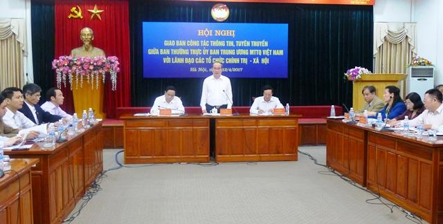 Tăng cường thông tin tuyên truyền giữa MTTQ Việt Nam và các tổ chức chính trị - xã hội