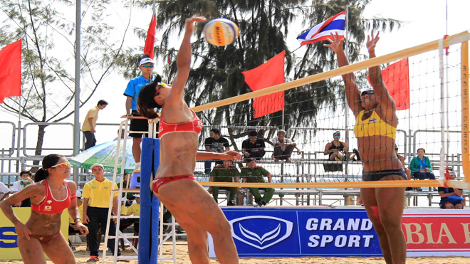 Khai mạc Giải Bóng chuyền bãi biển nữ châu Á năm 2017