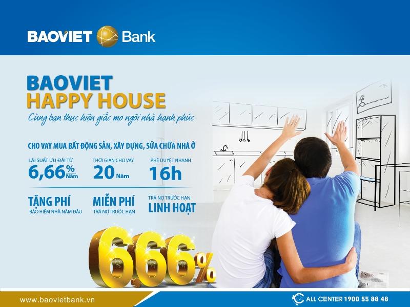 BAOVIET HAPPY HOUSE: Thực hiện giấc mơ ngôi nhà hạnh phúc
