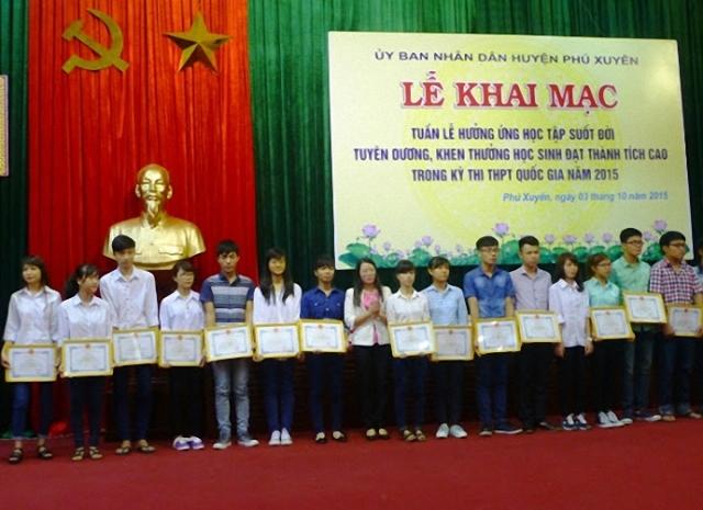 Lan toả phong trào khuyến học, khuyến tài ở Phú Xuyên (Hà Nội)