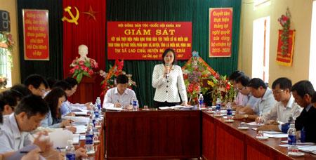 Đoàn Giám sát Hội đồng Dân tộc Quốc hội làm việc tại huyện Mù Cang Chải
