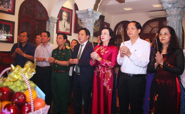 Lãnh đạo TP Hà Nội dâng hương tưởng niệm Đại tướng Văn Tiến Dũng
