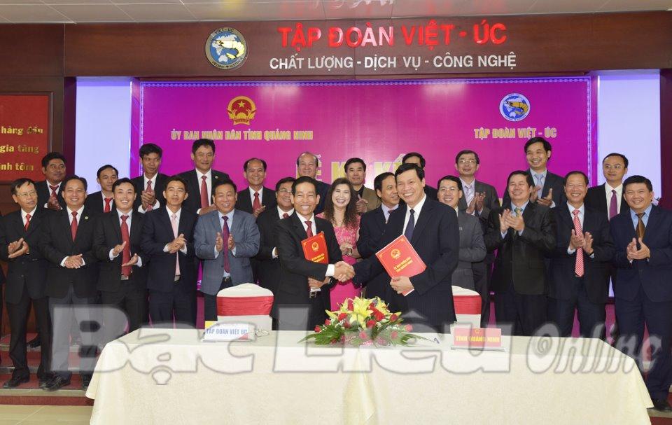 Lễ ký kết hợp tác chiến lược giữa Tập đoàn Việt - Úc và tỉnh Quảng Ninh