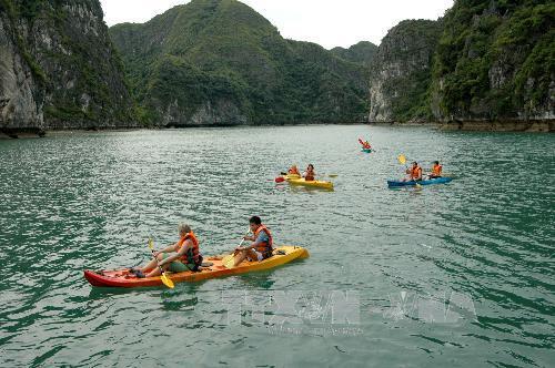 Dịch vụ chèo thuyền kayak được phép hoạt động trở lại trên vịnh Hạ Long
