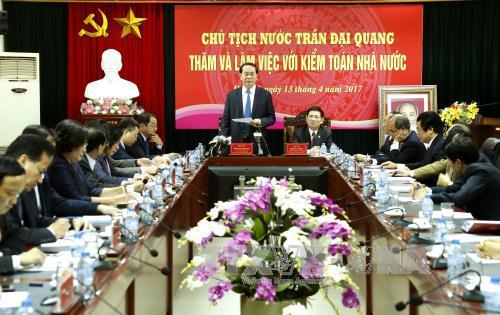 Chủ tịch nước Trần Đại Quang: Kiểm toán Nhà nước phải chủ động hơn nữa trong công tác phòng, chống thất thoát, lãng phí