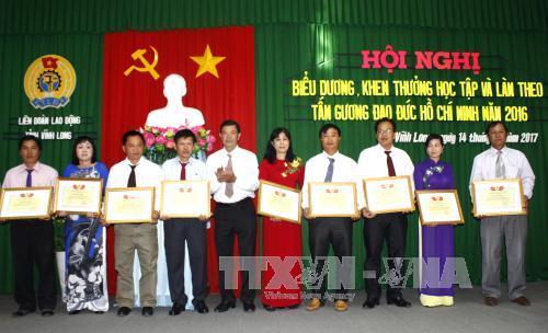 Biểu dương tập thể, cá nhân học tập và làm theo tư tưởng, đạo đức, phong cách Hồ Chí Minh
