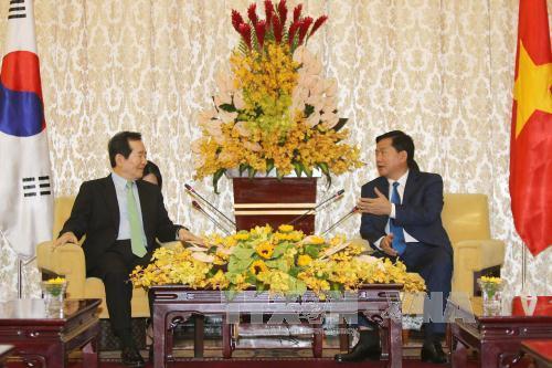 Lãnh đạo Thành phố Hồ Chí Minh tiếp Chủ tịch Quốc hội Hàn Quốc