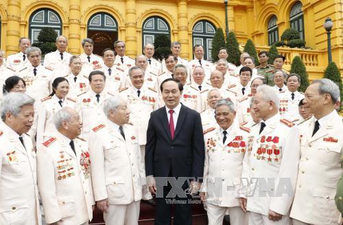 Chủ tịch nước Trần Đại Quang gặp mặt đại biểu cán bộ công an chi viện chiến trường miền Nam