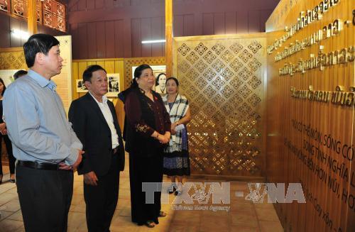 Phó Chủ tịch Thường trực Quốc hội thăm, kiểm tra tiến độ xây dựng Khu Di tích lịch sử cách mạng Việt Nam - Lào