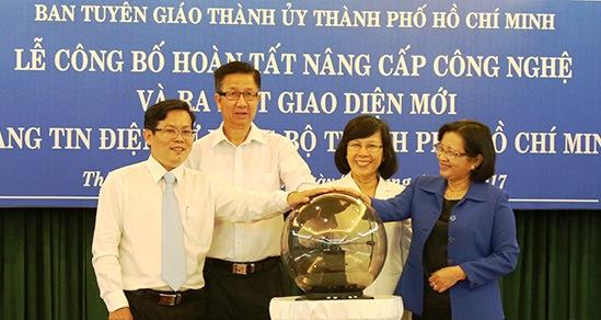 Ra mắt giao diện mới Trang tin điện tử Đảng bộ Thành phố Hồ Chí Minh