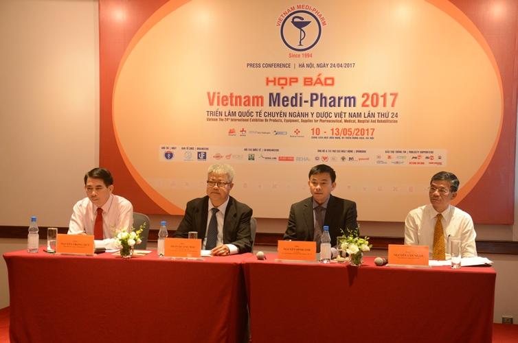 500 gian hàng tham dự Triển lãm Quốc tế chuyên ngành y dược Việt Nam 2017
