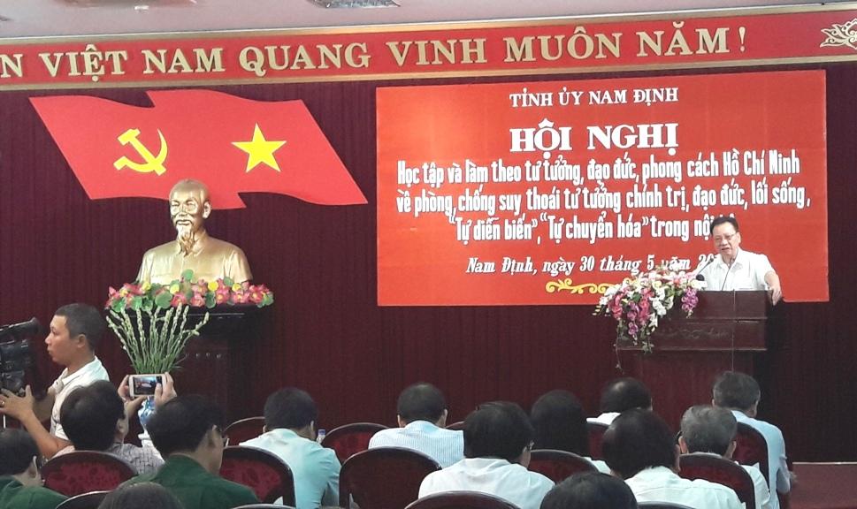 Nam Định: Tổ chức Hội nghị chuyên đề cho cán bộ chủ chốt về Chỉ thị 05-CT/TW của Bộ Chính trị