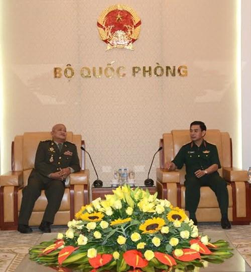 Tổng Tham mưu trưởng tiếp Đoàn Phó Quốc vụ khanh Bộ Quốc phòng Campuchia