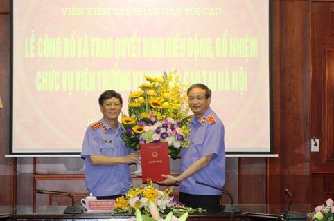 Trao Quyết định bổ nhiệm Viện trưởng Viện Kiểm sát nhân dân cấp cao tại Hà Nội