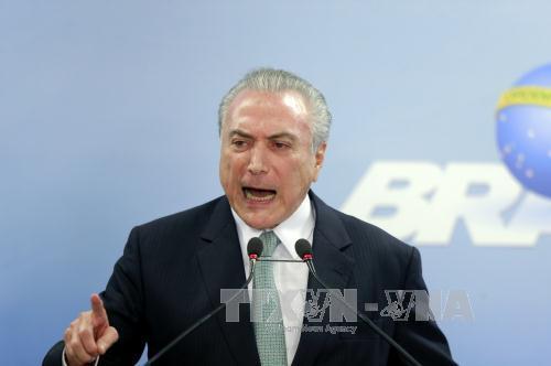 Tổng thống Brazil M.Temer tuyên bố sẽ không từ chức