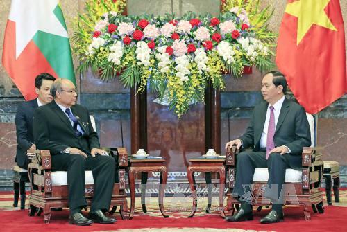 Chủ tịch nước Trần Đại Quang: Việt Nam và Myanmar cần thúc đẩy hợp tác trên các lĩnh vực thế mạnh