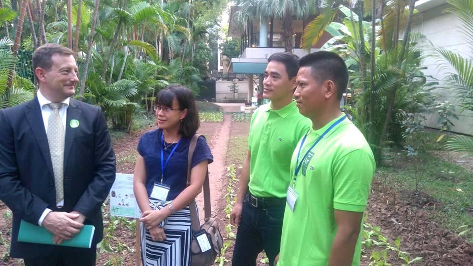 """Đại sứ Pháp giới thiệu dự án """"Đại sứ quán xanh"""" nhân ngày Đa dạng sinh học thế giới"""