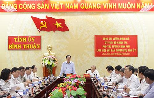 Đoàn Kiểm tra số 471 của Bộ Chính trị công bố Quyết định kiểm tra tại Tỉnh ủy Bình Thuận