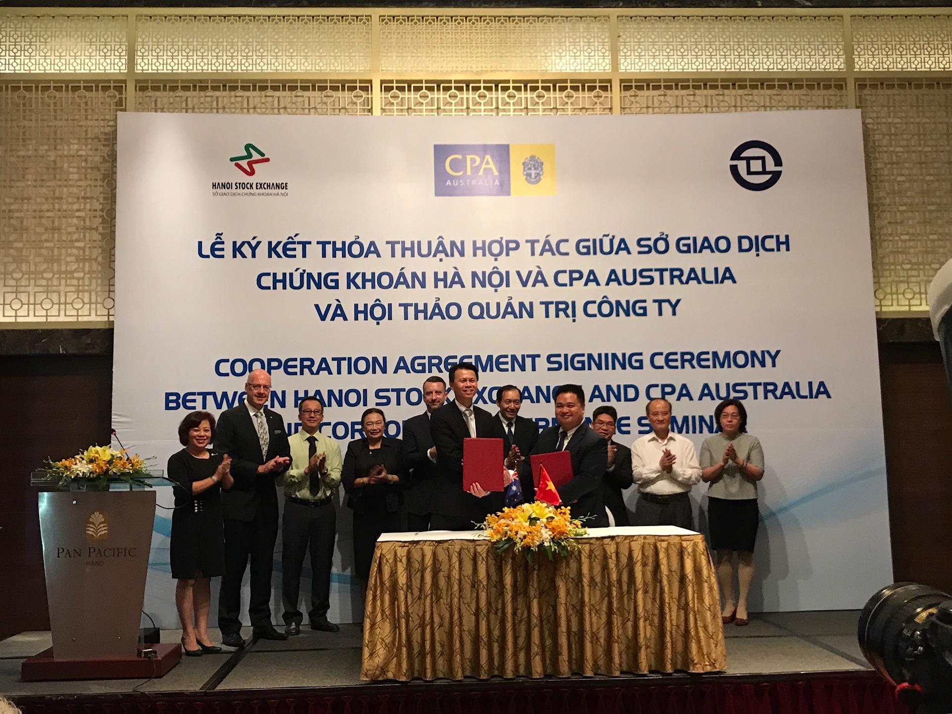 Sở Giao dịch chứng khoán Hà Nội ký kết thỏa thuận hợp tác với CPA Australia