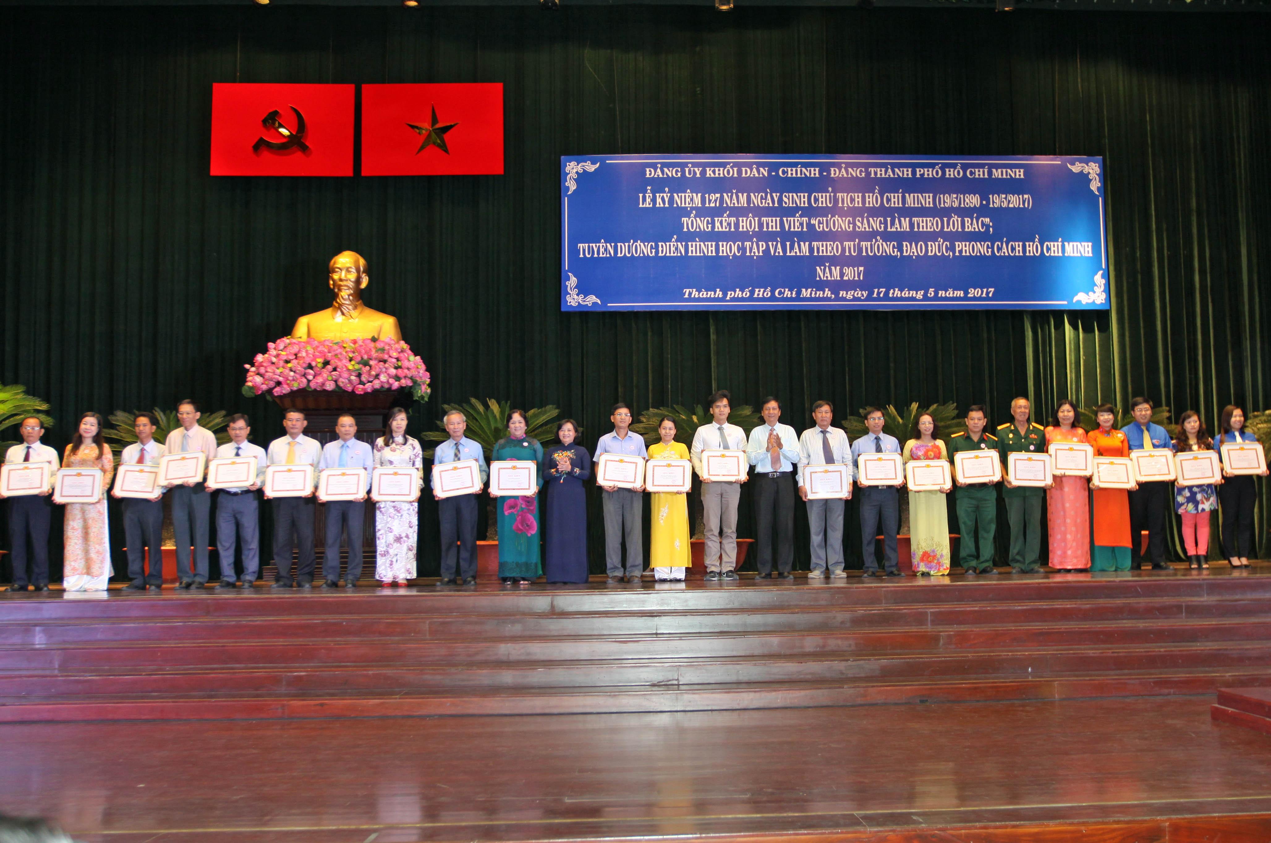 TP.Hồ Chí Minh: Tuyên dương các điển hình thực hiện tốt việc học tập và làm theo Bác