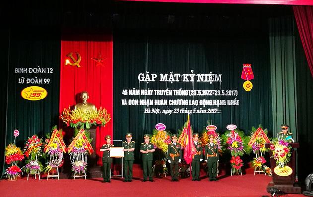 Lữ đoàn 99 - Công ty TNHH Một thành viên Xây dựng 99 đón Huân chương Lao động hạng Nhất