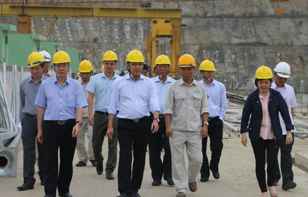 Tổng giám đốc EVN kiểm tra tiến độ dự án Thủy điện Trung Sơn