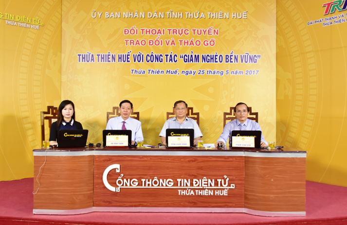 Thừa Thiên Huế: Đối thoại trực tuyến về công tác giảm nghèo bền vững