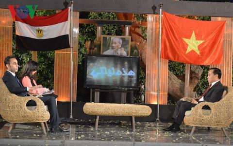 Truyền hình Ai Cập giới thiệu sự nghiệp của Chủ tịch Hồ Chí Minh, quảng bá đất nước, con người Việt Nam