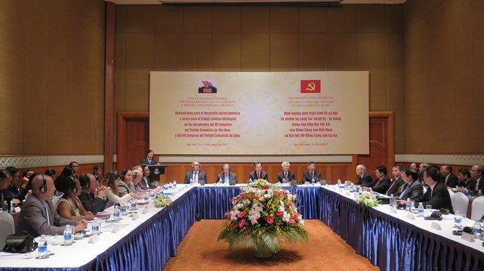 Khai mạc Hội thảo lý luận lần thứ ba giữa Đảng Cộng sản Việt Nam và Đảng Cộng sản Cu-ba