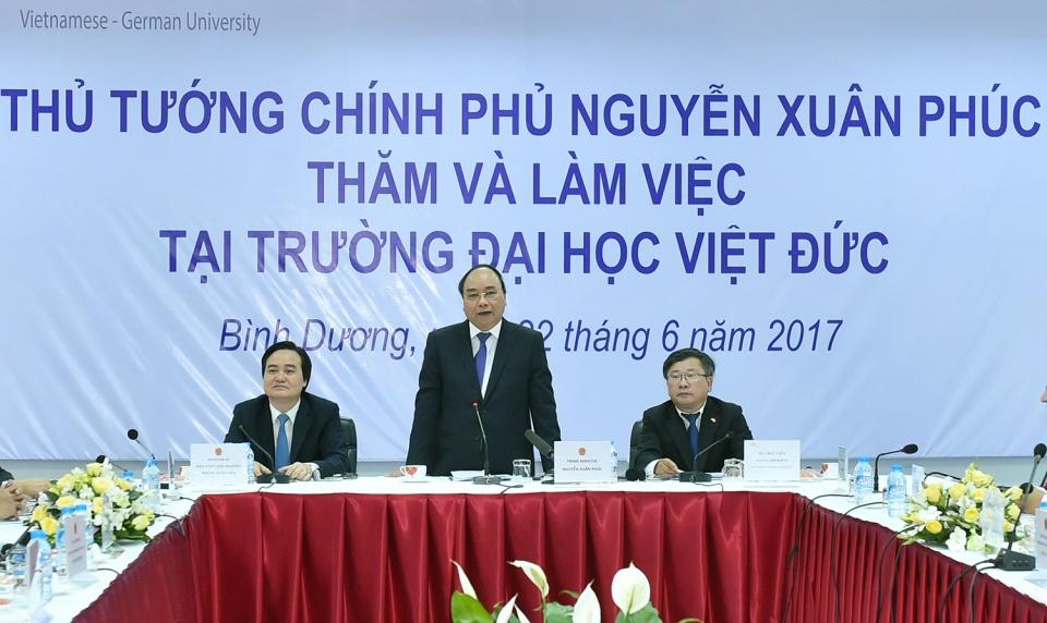 Thủ tướng Nguyễn Xuân Phúc thăm, làm việc với Đại học Việt Đức