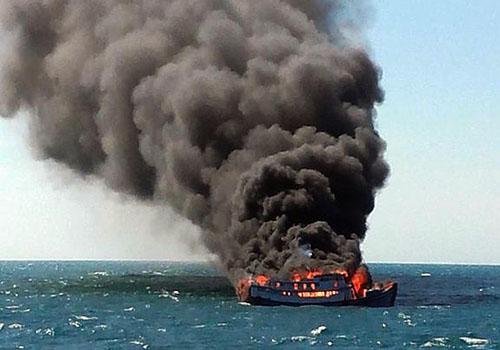 Cà Mau: Thông tin về 5 thuyền viên bị nạn trong vụ nổ máy tàu cá