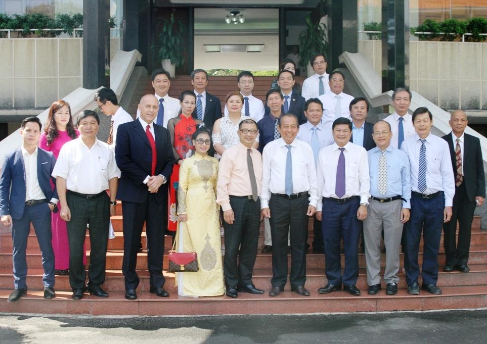Phó Thủ tướng Trương Hòa Bình tiếp đoàn Hội Doanh nhân Việt Nam tại Australia
