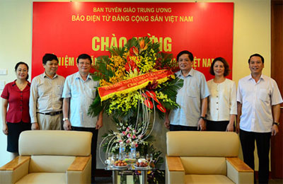 Nhiều cơ quan, đơn vị chúc mừng Báo điện tử Đảng Cộng sản Việt Nam