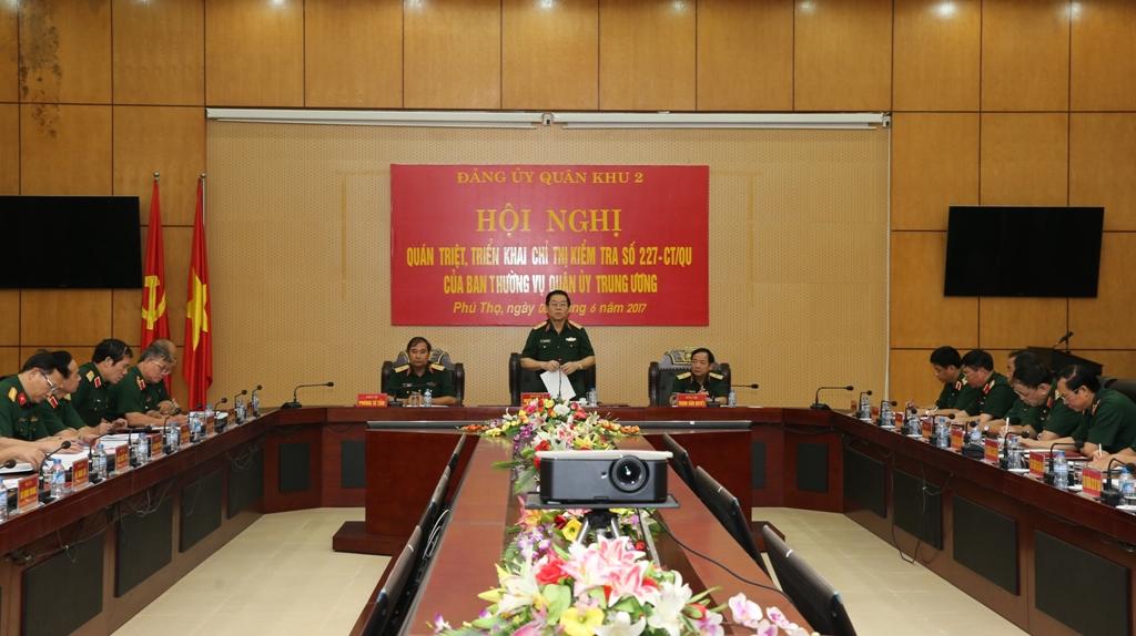 Đoàn kiểm tra của Ban Thường vụ Quân ủy Trung ương kiểm tra Đảng ủy Quân khu 2