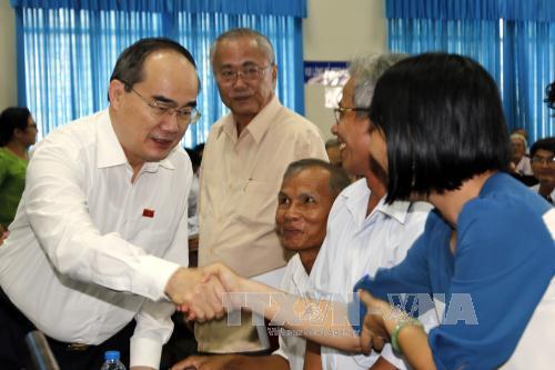 Bí thư Thành ủy TP. Hồ Chí Minh Nguyễn Thiện Nhân tiếp xúc cử tri huyện Củ Chi và Hóc Môn