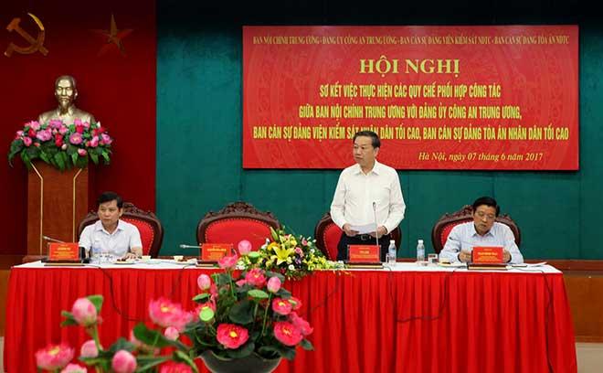 Tăng cường phối hợp giữa Ban Nội chính Trung ương và các cơ quan tiến hành tố tụng