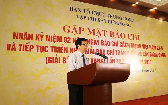 Đề nghị các cơ quan báo chí đẩy mạnh tuyên truyền về công tác xây dựng Đảng