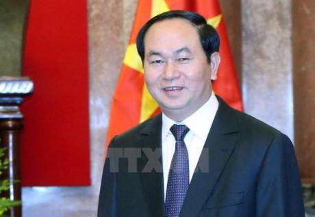 Chủ tịch nước Trần Đại Quang trả lời phỏng vấn báo chí Liên bang Nga và Belarus