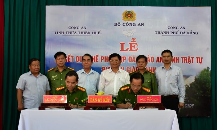 Công an Thừa Thiên - Huế và Đà Nẵng ký kết Quy chế phối hợp đảm bảo an ninh trật tự vùng giáp ranh