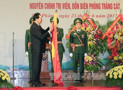 Chủ tịch nước trao danh hiệu Anh hùng Lực lượng vũ trang nhân dân tặng Bộ đội Biên phòng thành phố Hải Phòng