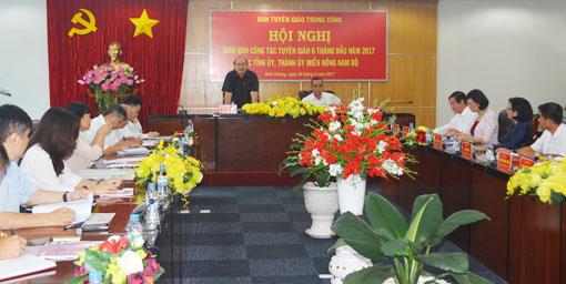 Giao ban công tác tuyên giáo các tỉnh, thành ủy miền Đông Nam bộ 6 tháng đầu năm 2017