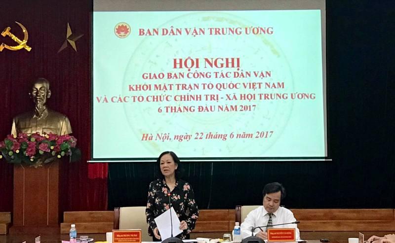 Tăng cường gắn kết giữa MTTQ Việt Nam, các tổ chức chính trị - xã hội với đoàn viên, hội viên và nhân dân
