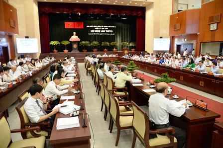 Khai mạc Hội nghị lần thứ 10, Ban Chấp hành Đảng bộ TP Hồ Chí Minh khóa X