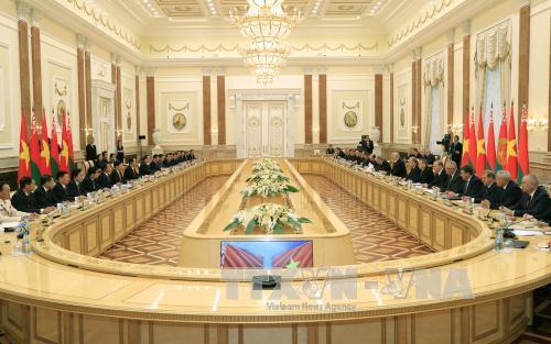 Hội đàm cấp cao Việt Nam - Belarus: Thúc đẩy mạnh mẽ hợp tác song phương trên mọi lĩnh vực
