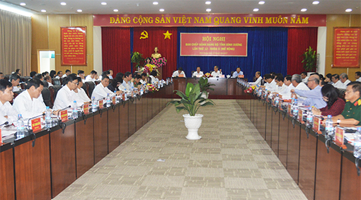 Hội nghị Ban Chấp hành Đảng bộ tỉnh Bình Dương (mở rộng) lần thứ 12 khóa X