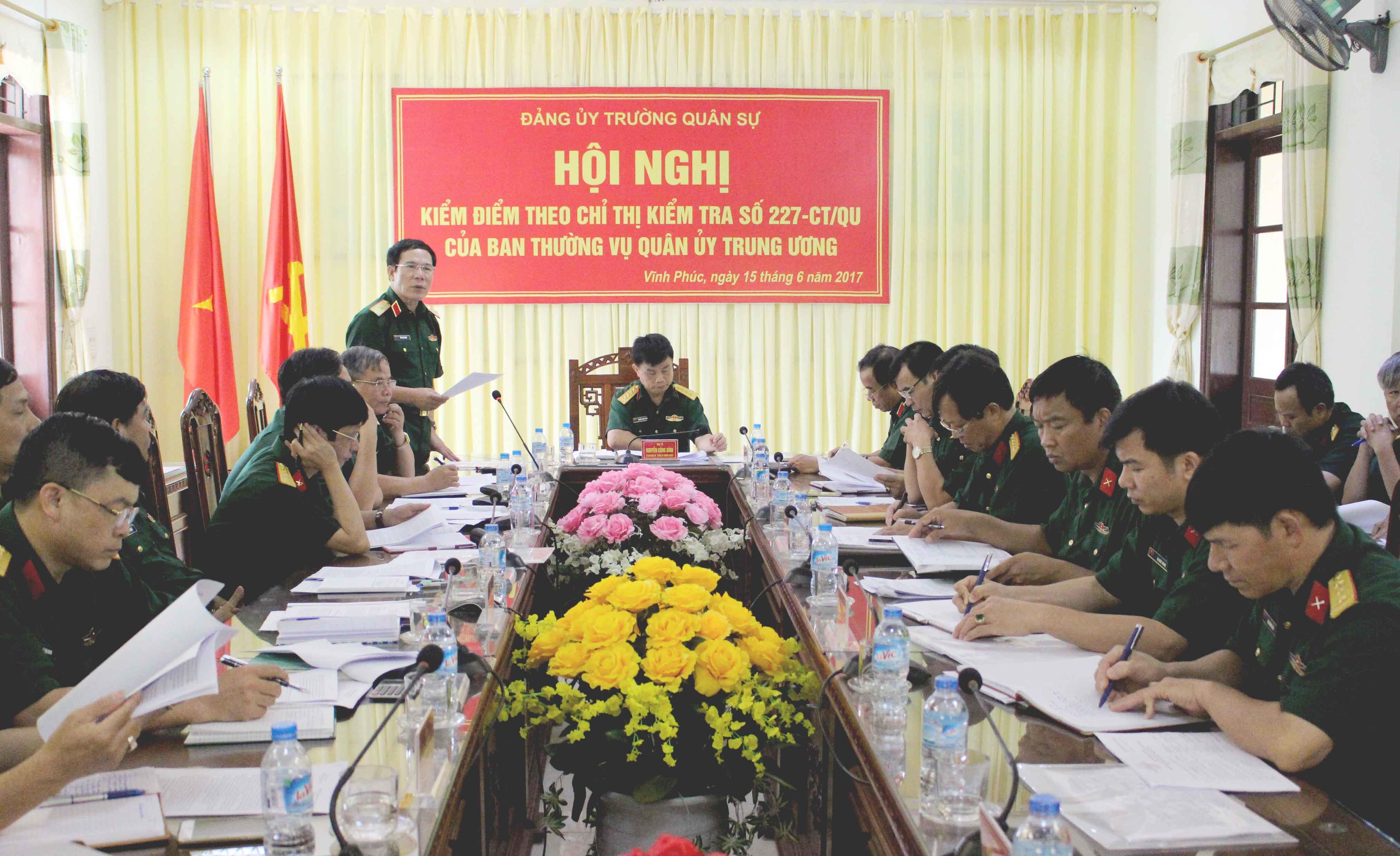 Quân ủy Trung ương kiểm tra Đảng ủy Trường Quân sự Quân khu 2