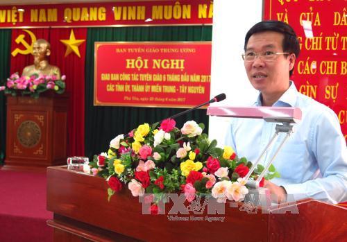 Hội nghị giao ban công tác tuyên giáo khu vực miền Trung - Tây Nguyên