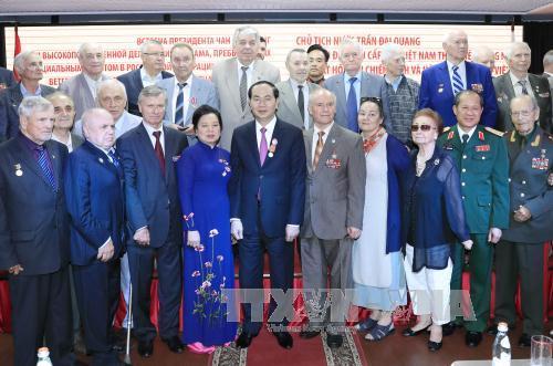 Chủ tịch nước Trần Đại Quang gặp mặt các bạn bè Nga