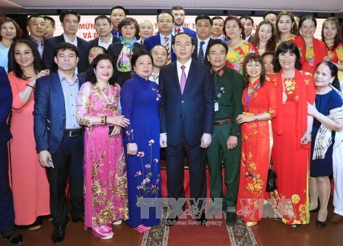 Chủ tịch nước Trần Đại Quang gặp mặt cộng đồng Việt Nam ở Liên bang Nga